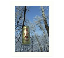 polution with ursus beer can Art Print
