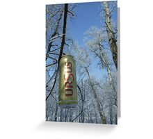 polution with ursus beer can Greeting Card