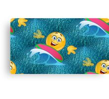 surfer emoji Canvas Print