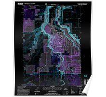 USGS Topo Map Oregon Steelhead Falls 281643 1992 24000 Inverted Poster