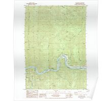 USGS Topo Map Oregon Scottsburg 281428 1985 24000 Poster
