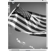 American Flag in Black and White iPad Case/Skin