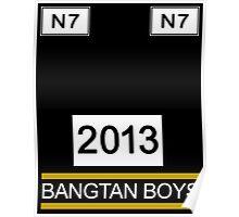 BTS/Bangtan Boys Stussy-Inspired Shirt Poster