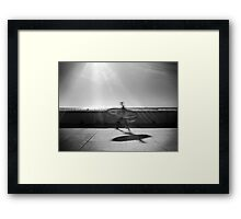 Surfer on the Beach Framed Print