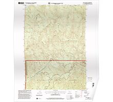 USGS Topo Map Oregon Goat Point 280038 1997 24000 Poster
