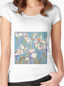Autumn Blossoms Women's Fitted Scoop T-Shirt