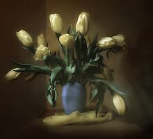 bouquet of tulips by VallaV
