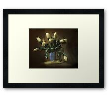 bouquet of tulips Framed Print