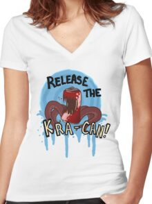 Release the Kra-can! Women's Fitted V-Neck T-Shirt