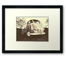 Sun set on a Winters Day Framed Print