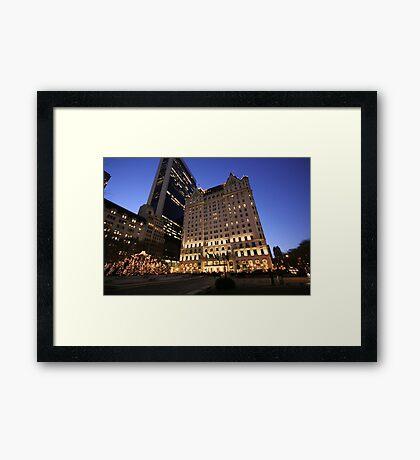 The Plaza, New York City Framed Print