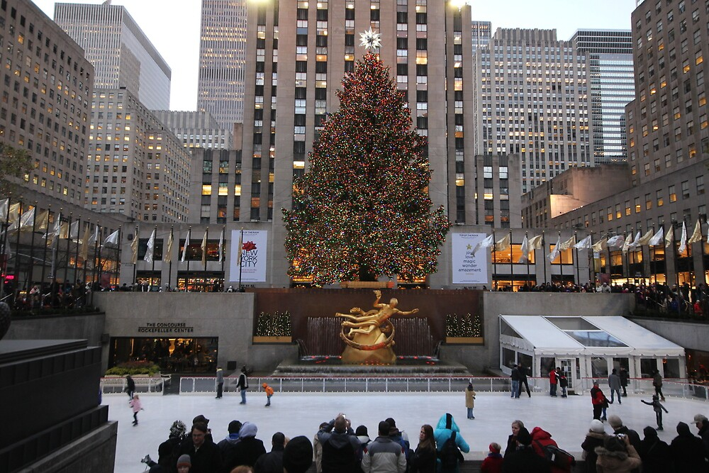 Rockefeller Center at Christmas by JoanneF24