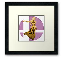 Sm4sh - Zelda Framed Print