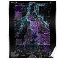 USGS Topo Map Oregon Steelhead Falls 281642 1992 24000 Inverted Poster