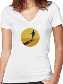 Mad Max on Fury Road Women's Fitted V-Neck T-Shirt