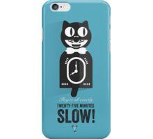 Cinema Obscura Series - Back to the future - Cat Clock iPhone Case/Skin