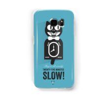 Cinema Obscura Series - Back to the future - Cat Clock Samsung Galaxy Case/Skin