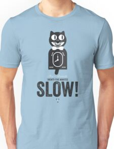 Cinema Obscura Series - Back to the future - Cat Clock Unisex T-Shirt
