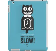 Cinema Obscura Series - Back to the future - Cat Clock iPad Case/Skin