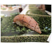 Seared Kama Toro Tuna Collar Nigiri Poster