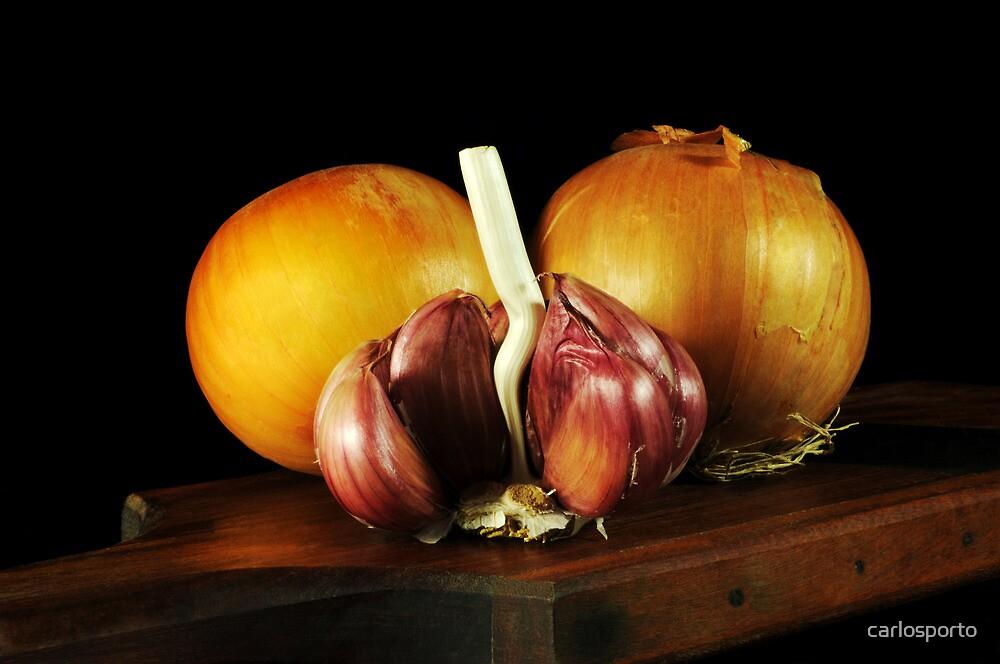 Onions and Garlic by carlosporto