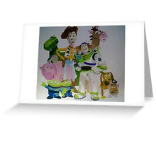 Toy Story wall mural Greeting Card