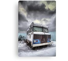 the relinquished resident....(Winnebago, Cherry Street & Front, Toronto, Ontario, Canada) Canvas Print