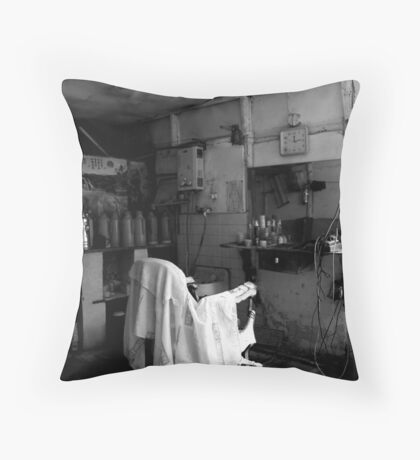 Ancient Town Qian Deng Throw Pillow