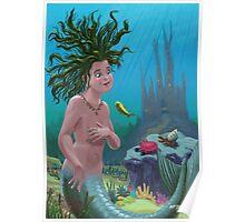 mermaid underwater city Poster