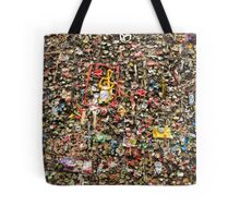 Wall of Chewing Gum Tote Bag
