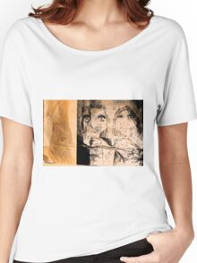 drawing on brown paper, lighting in 2 sections Women's Relaxed Fit T-Shirt