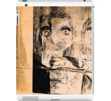 drawing on brown paper, lighting in 2 sections iPad Case/Skin