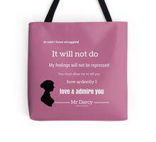 Jane Austen Pride & Prejudice Quote Tote Bag