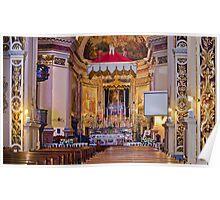 Zabbar Parish Church Malta (hand-held-shot) Poster