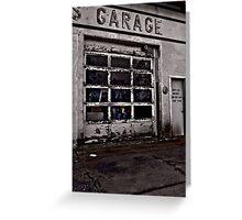 S Garage Greeting Card
