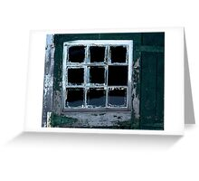 Shed Window Greeting Card