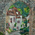 Arches of Saint-Cirq_Lapopie by Charlotte  Blanchard