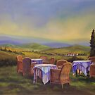 End Of A Tuscan Day by Charlotte  Blanchard