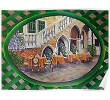 Outdoor Cafe In Vencie Poster