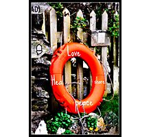 Love Peace heal Photographic Print