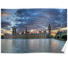 London  Westminster at Sunset, London England Poster
