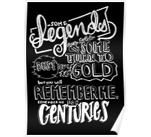 """""""Centuries"""" By Fall Out Boy Lyric Drawing Poster"""