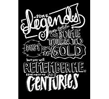 """Centuries"" By Fall Out Boy Lyric Drawing Photographic Print"