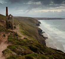 Towanroath Shaft near Porthtowan by Cliff Williams