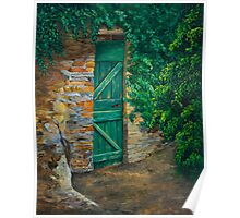 The Garden Gate In Cinque Terre Poster