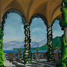 Under The Arches At Villa Balvianella by Charlotte  Blanchard