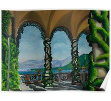 Under The Arches At Villa Balvianella Poster