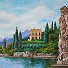 Watching Over Lake Como by Charlotte  Blanchard
