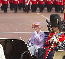 Her Majesty The Queen, Trooping the colour, 2010 by Keith Larby