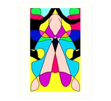 Oh My Aching Head Stain Glass Abstract (To Tammy, who like me keeps a migraine.) Art Print